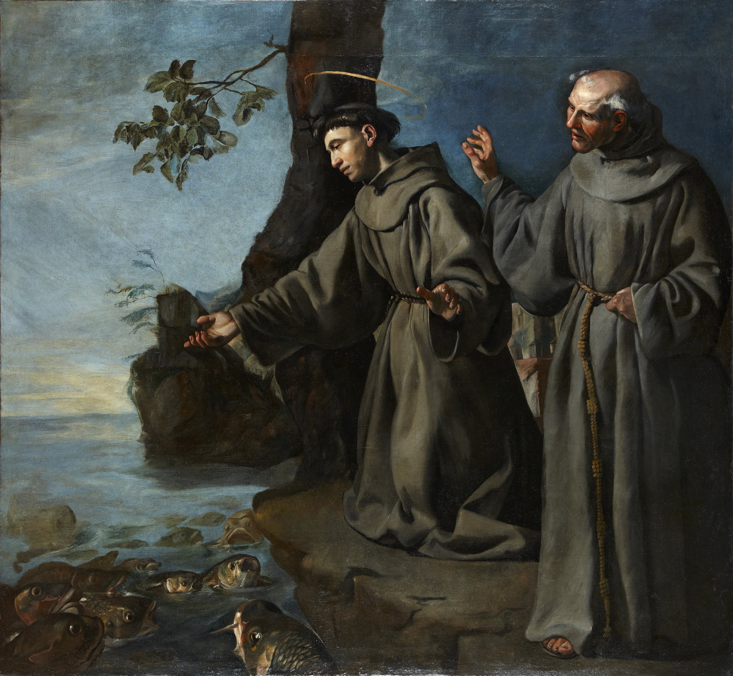 Francisco de Herrera the Elder,  St. Anthony Preaching to the Fishes