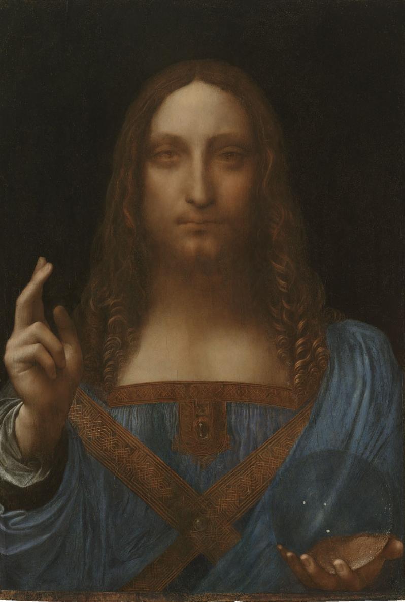 Leonardo da Vinci   (Italian, 1452-1519)  Salvator Mundi  Oil on panel Private Collection © 2011 Salvator Mundi LLC Photograph:  Tim Nighswander/Imaging4Art