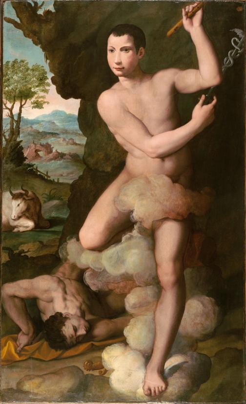 Alessandro Allori,  Portrait of Don Antonio de'Medici as Mercury  (Cambridge, Fogg Art Museum)