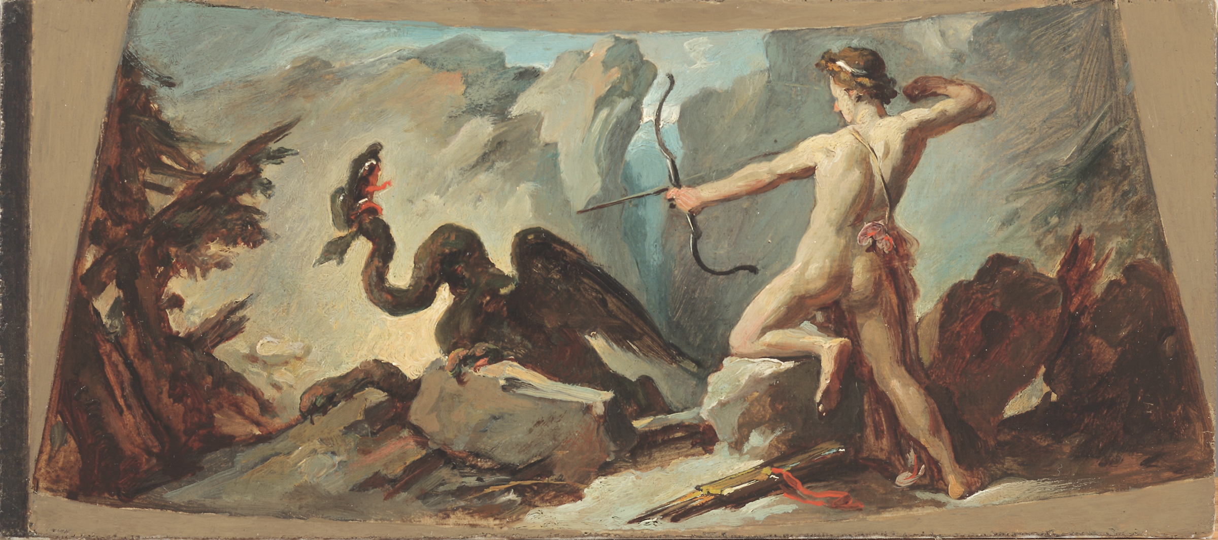 Circle of Jacopo Guarana, Apollo Slaying the Earth-Dragon Python