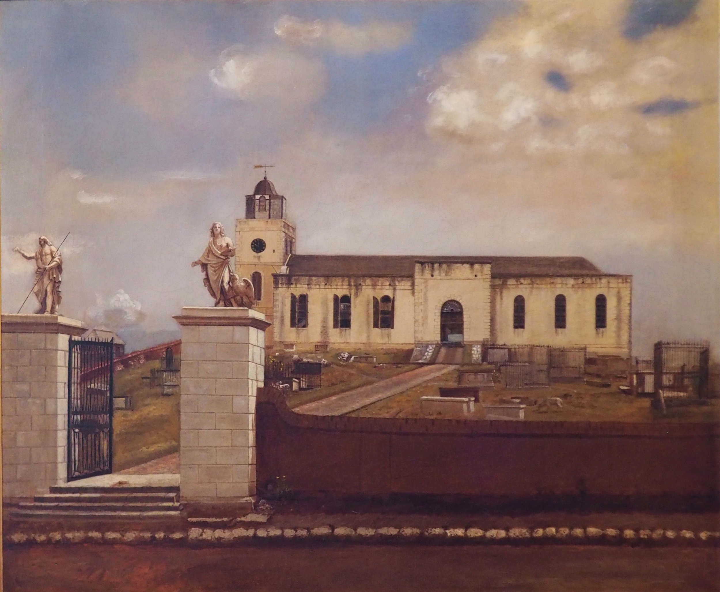 EZRA BISBEE, View of St. John's Cathedral, Antigua