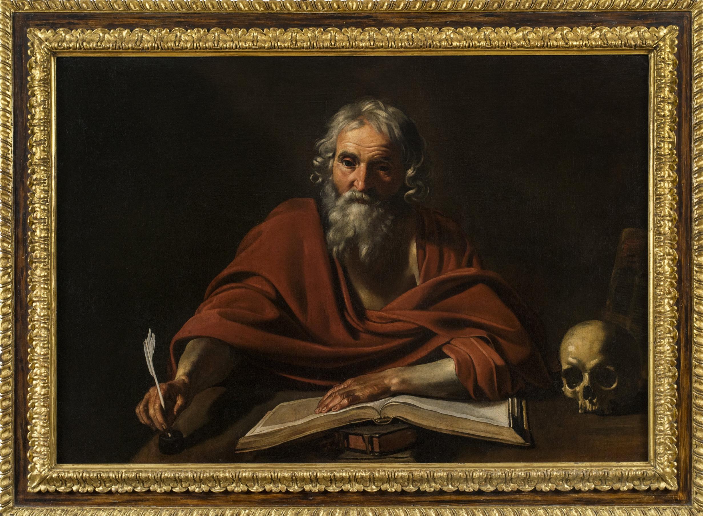 Nicolas Tournier,  St. Jerome Writing