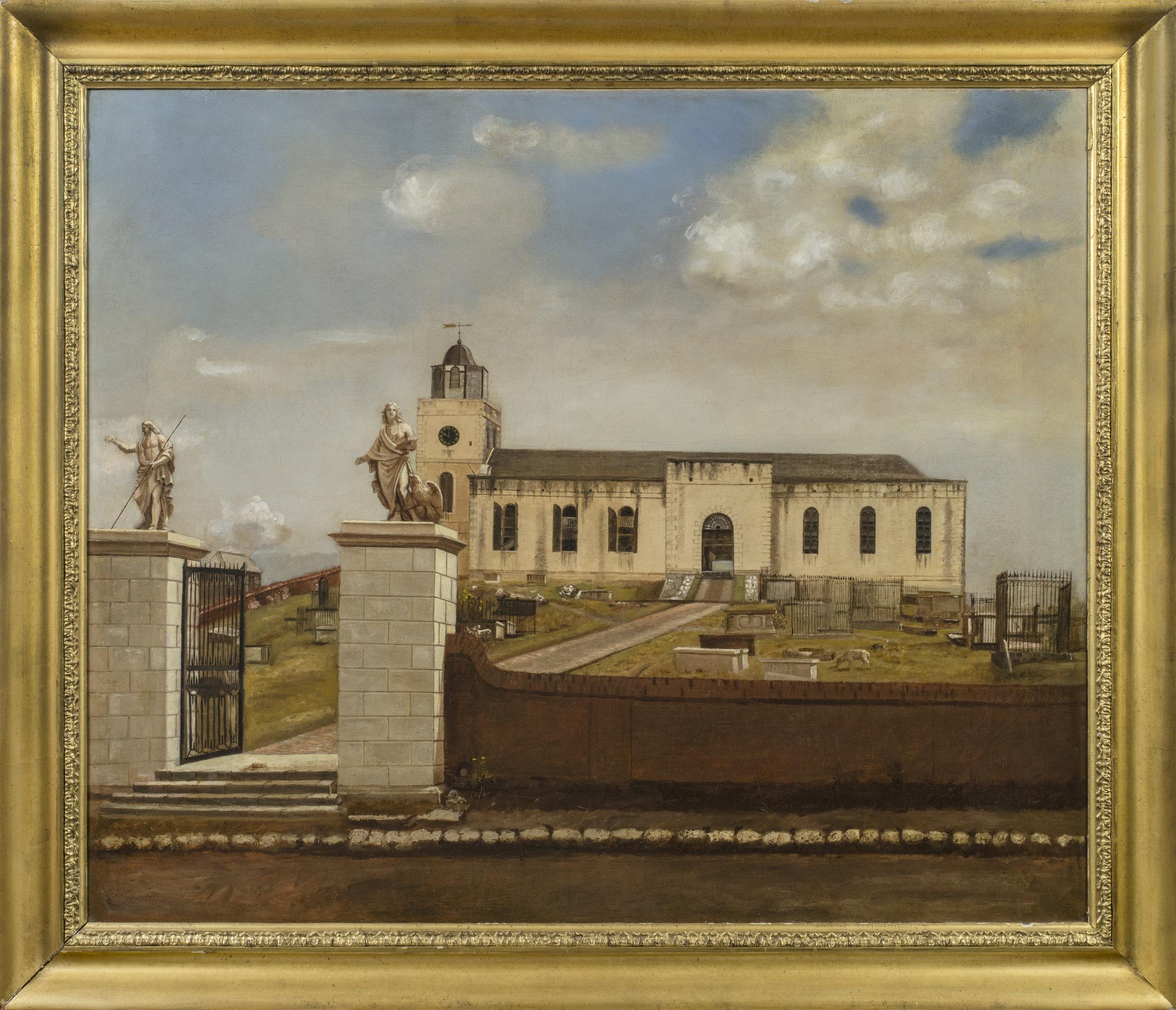 Ezra Bisbee,  View of St. John's Cathedral, Antigua