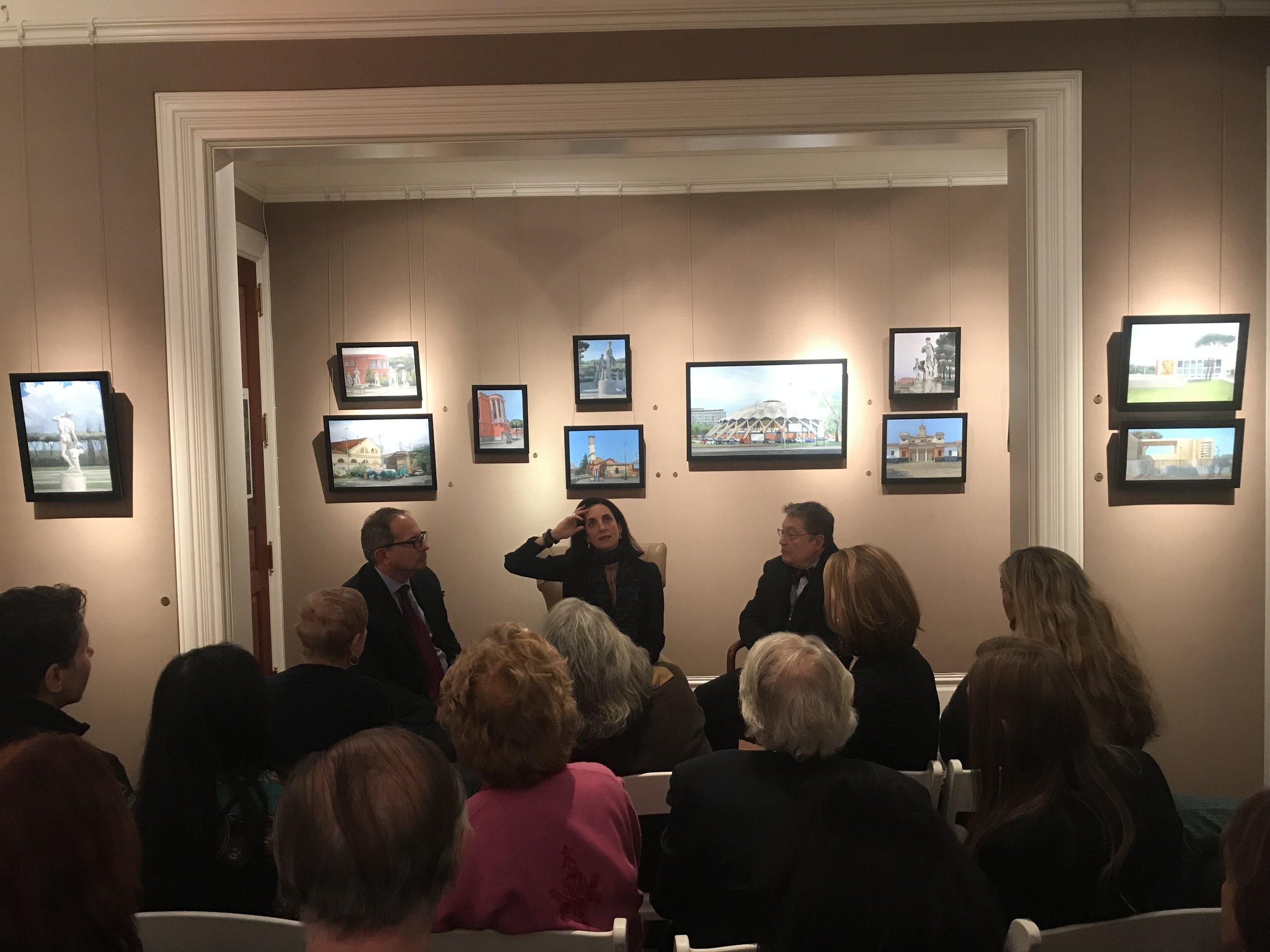 PAMELA TALESE THE ARTIST IN CONVERSATION WITH ROBERT SIMON AND LUIGI BALLERINI - View 1