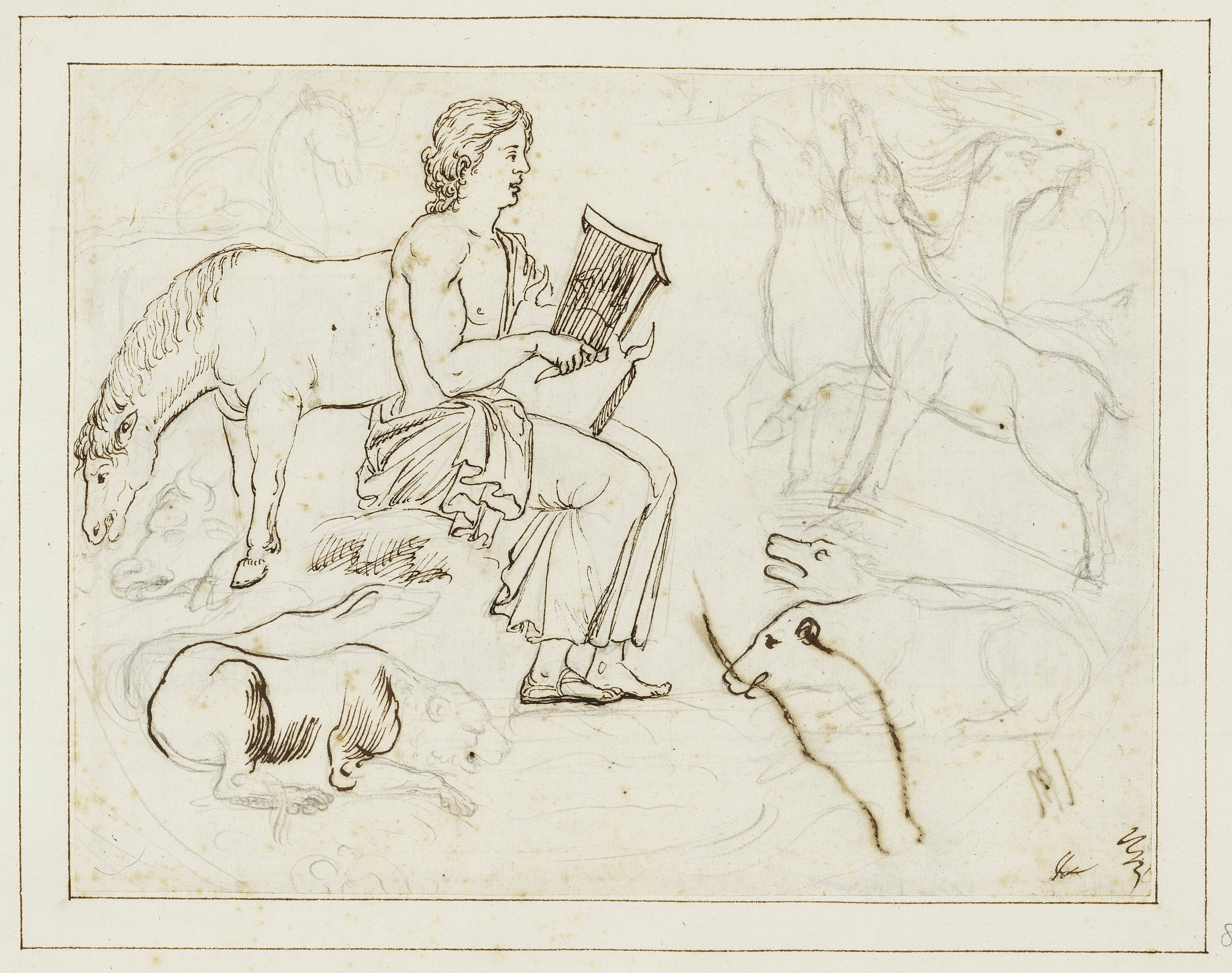 Fig. 2. Pietro Testa,  Orpheus and the Animals , Royal Collection, Windsor.