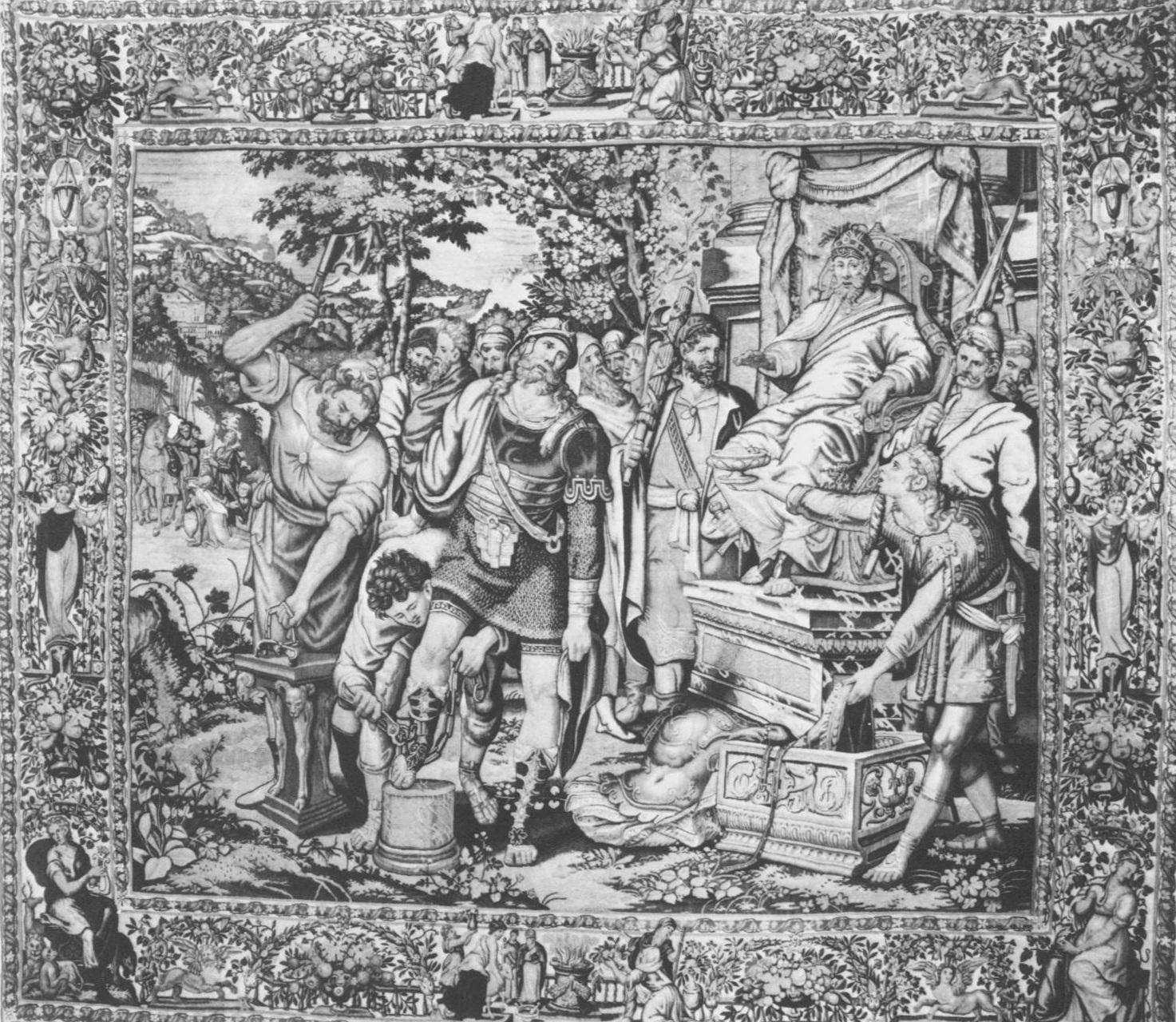 Fig. 2. After Pedro de Campaña,  Liberation of Flavius Josephus , tapestry, Marsala, Sicily, Museo degli Arazzi.
