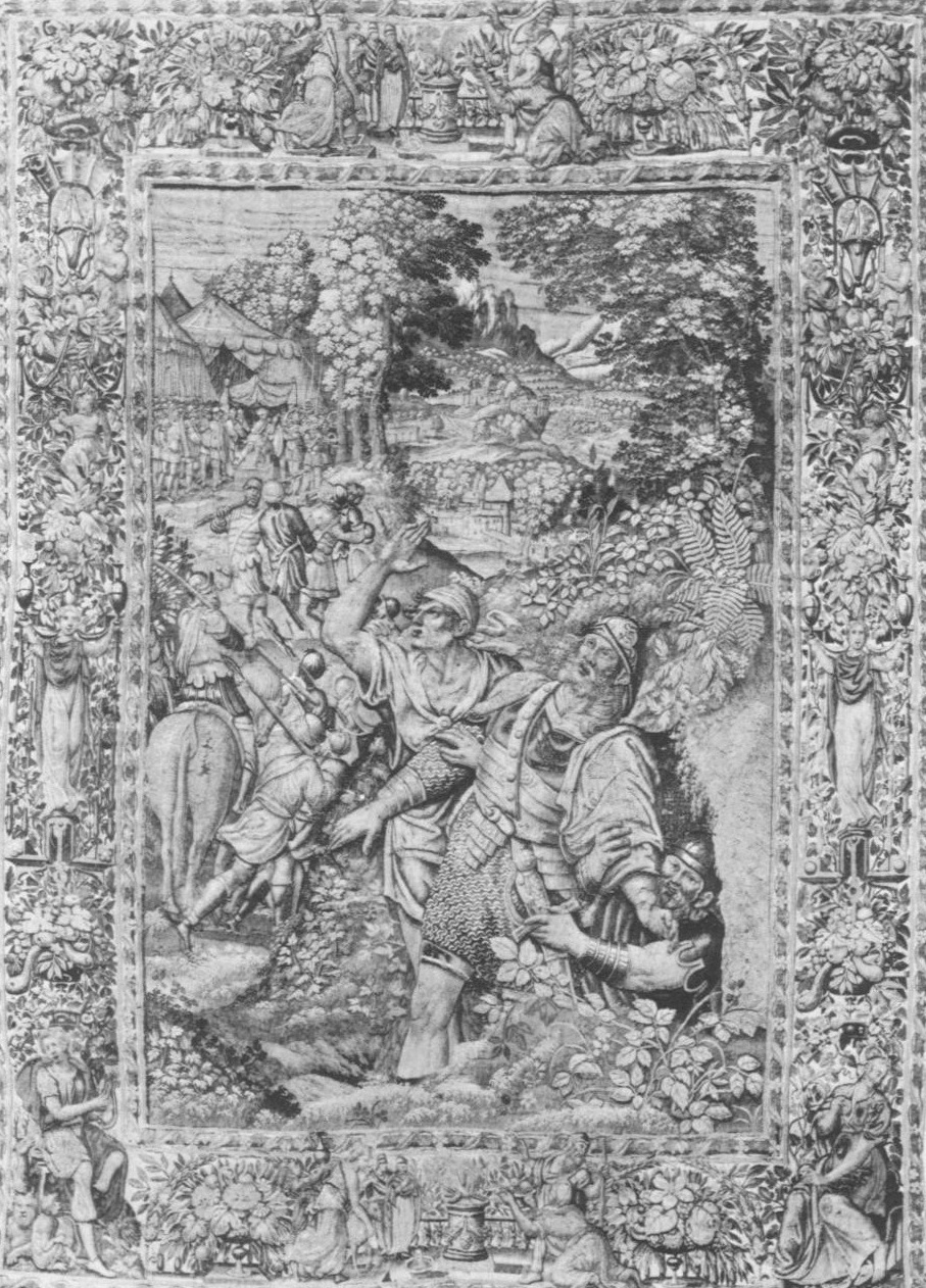 Fig. 1. After Pedro de Campaña,  The Capture of Flavius Joseph , tapestry, Marsala, Sicily, Museo degli Arazzi.