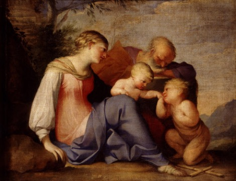 Fig. 2. Lubin Baugin,  The Holy Family with the Infant John the Baptist ,  oil on canvas, 43 x 33 inches, Saltram, Devon, National Trust.