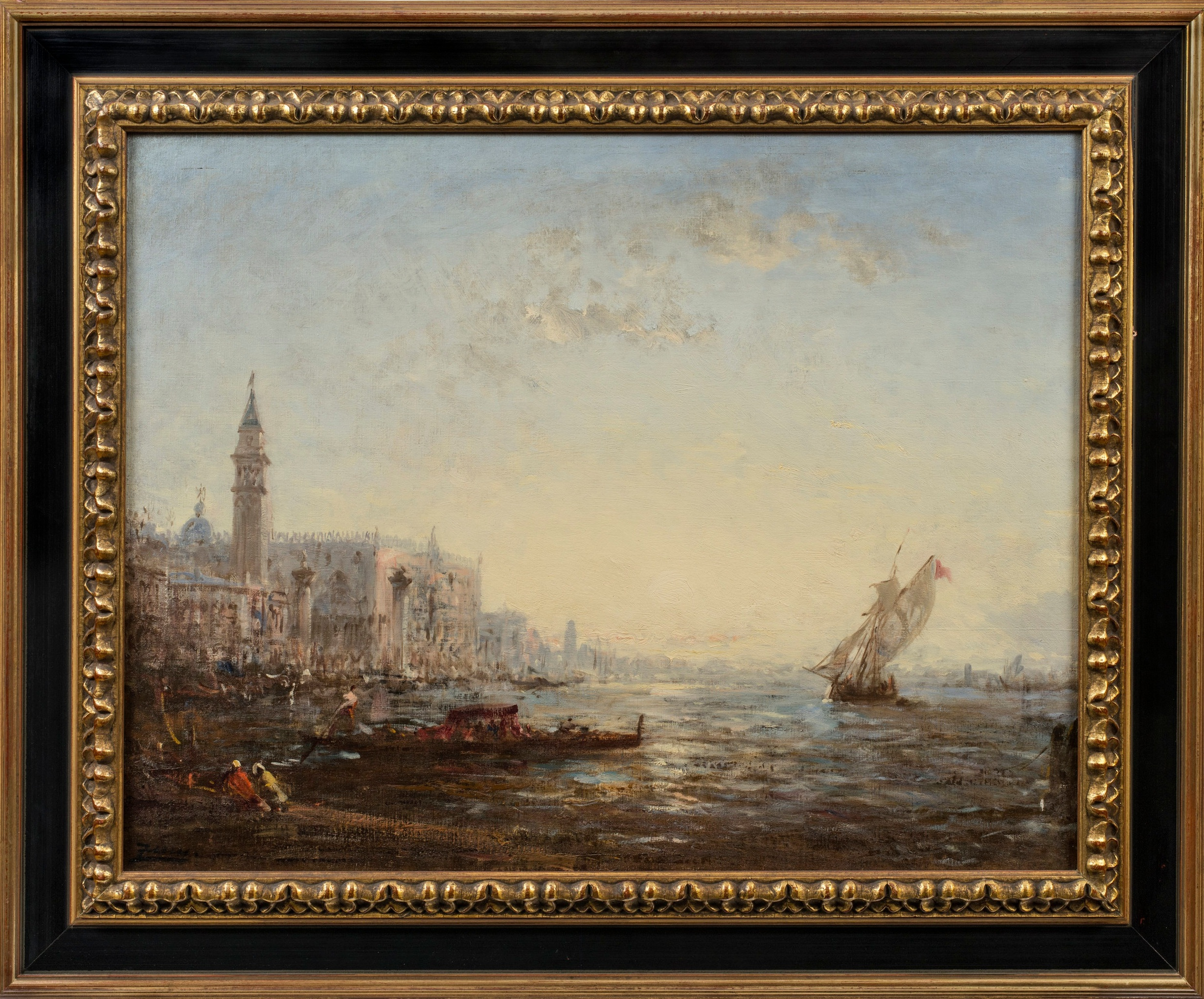 Félix Ziem,  Sunrise over the Bacino di San Marco