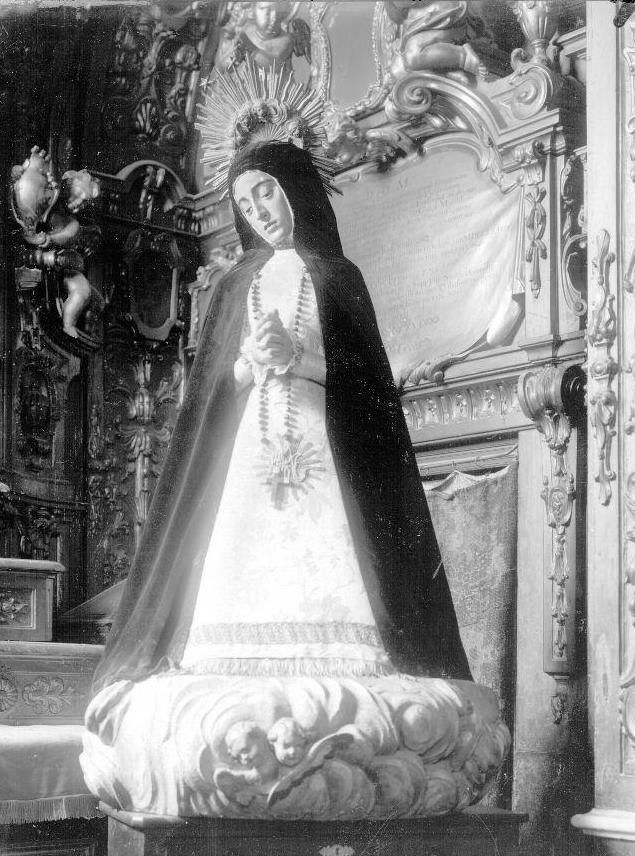Fig. 1. Gaspar Becerra,  Señora de la Soledad , formerly in the the convent of Nuestra Señora de la Victoria in Madrid.
