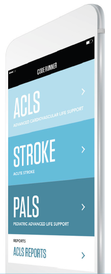 Full algorithms delivered for ACLS, PALS, and STROKE based on current clinical guidelines. -