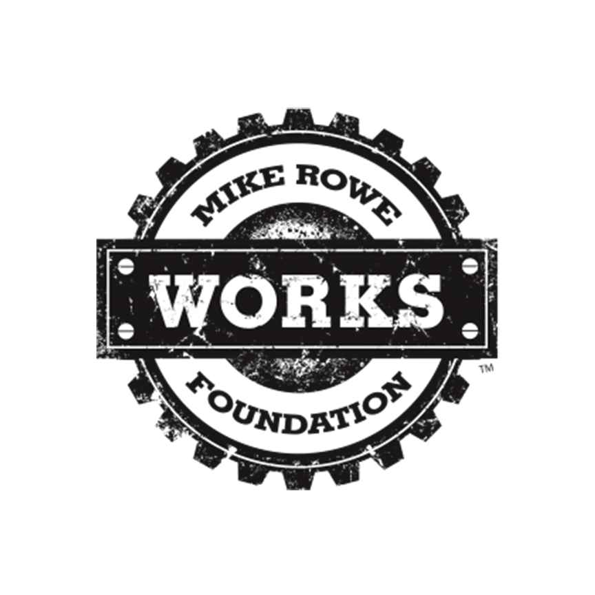MikeRoweWORKS Foundation is a non-profit that focuses on helping to close the skills gap through initiatives like the Work Ethic Scholarship Program which provide support to people who want to learn a skilled trade.