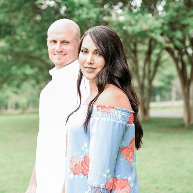 "These two are saying ""I DO"" today and I couldn't be any more excited! It's been such a pleasure getting to work with such a sweet couple and getting to witness their amazing creativity, first hand. This rustic wedding will feature several ... (BEAUTIFUL, might I add) hand crafted wooden pieces built by the groom and finished by the bride. I can't wait for them to watch their magical day unfold in front of family and friends! 💕🤗"