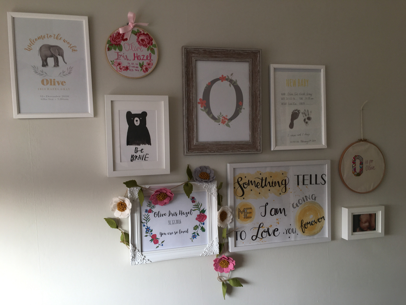 personalised prints - life with oaks and olive