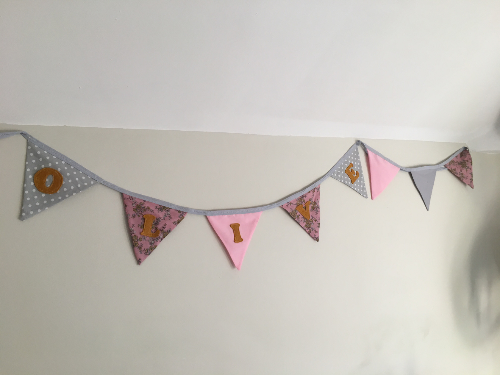Bunting for olives room