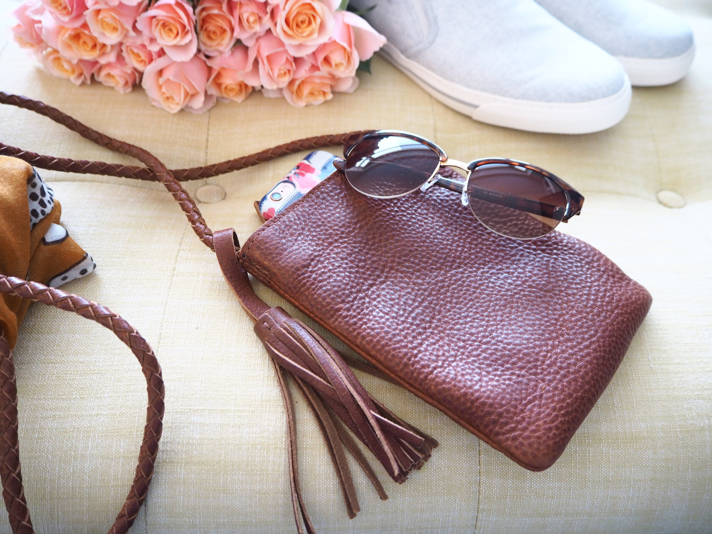 Mini Leather cross body bag by Fat Face