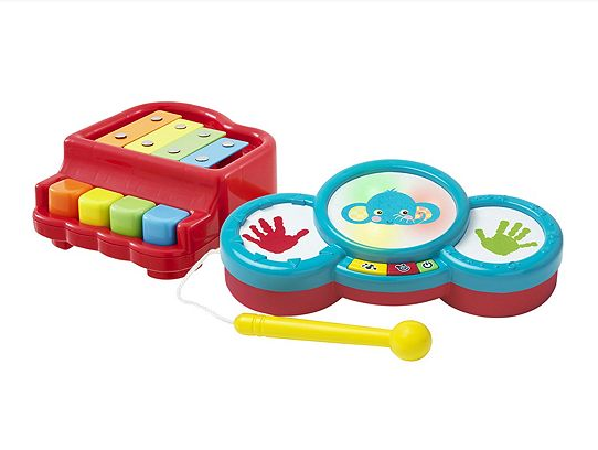 Carousel Let's Play Drum and Piano Set - £24