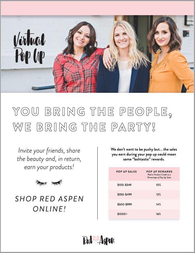 Pop Up Marketing sheet -