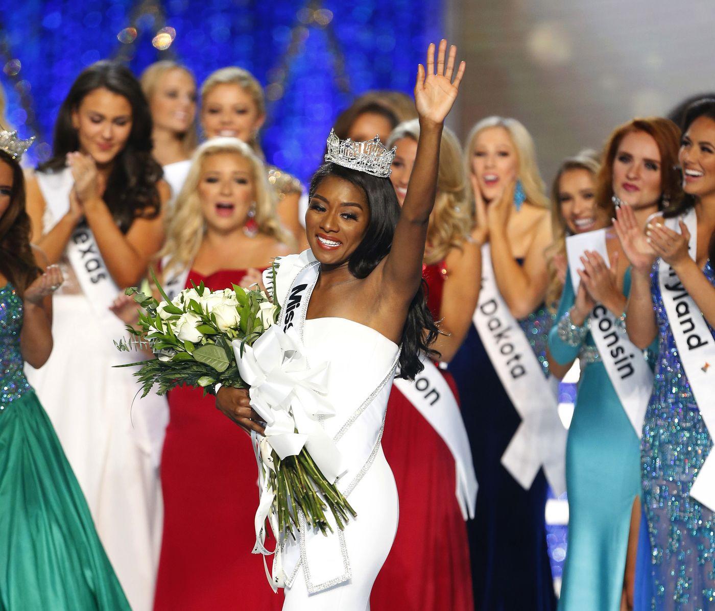 Nia Franklin was named Miss America Sunday night in Atlantic City. (Noah K. Murray / AP)