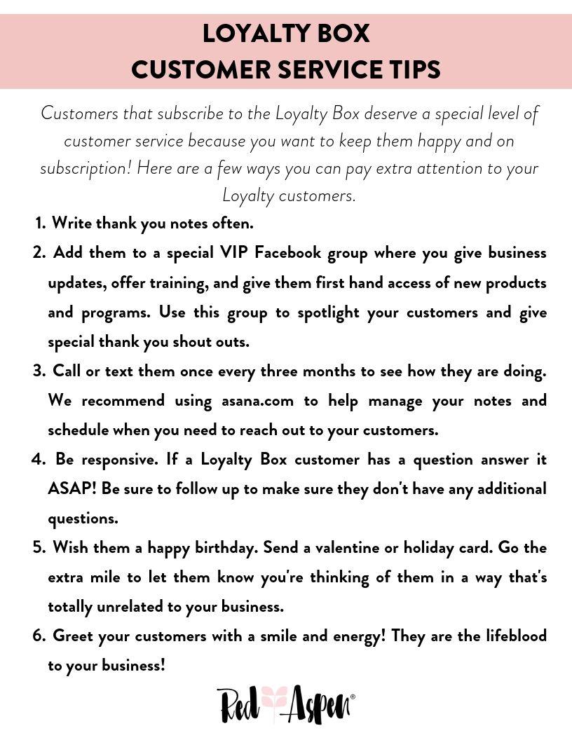 Loyalty Box Customer Service Tips -