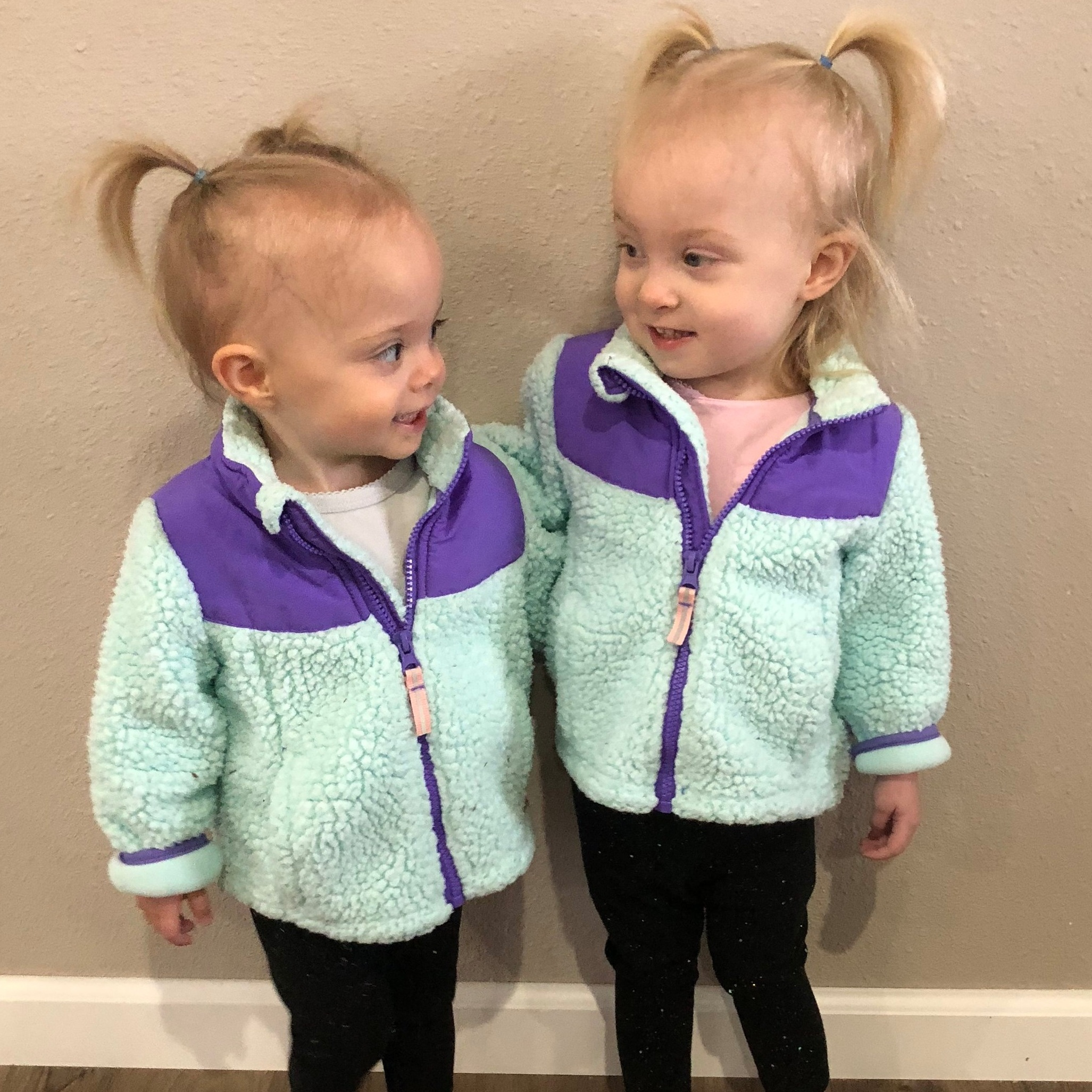 """- """"They defeated the odds against them and pushed through learning to breathe and to eat on their own. At 1 pound 8 ounces and 2 pounds they showed me what true fighters are, and inspired me to do just the same.""""-Vic McCain (Clara and Abigail's mom)"""