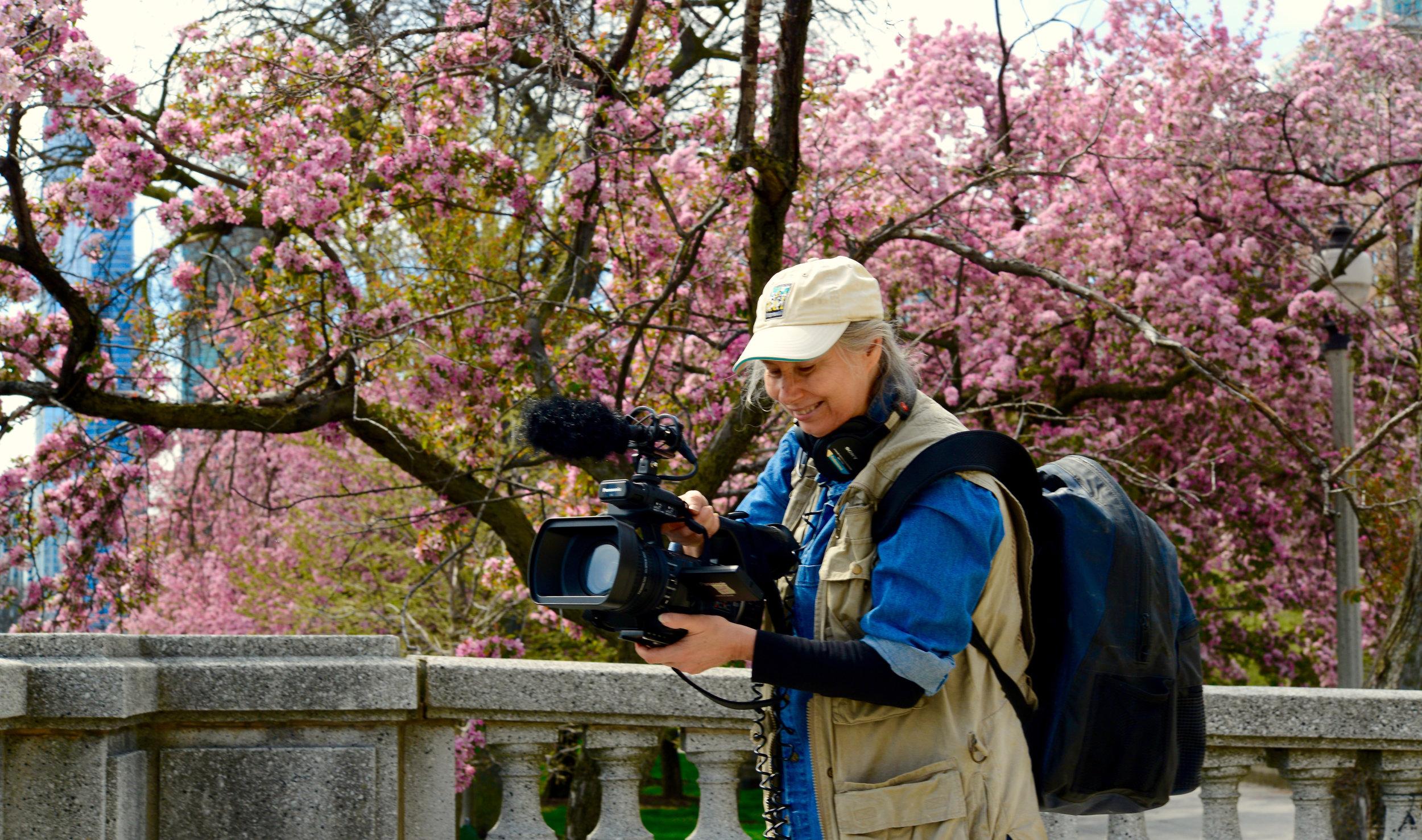Rana shooting Earth Day March