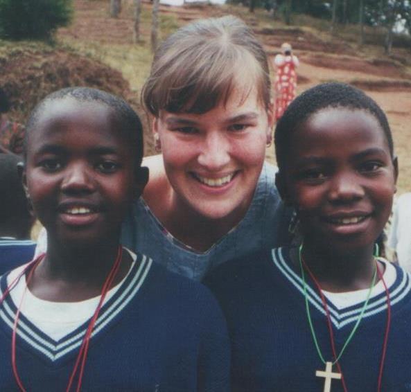Sarah Kwolek as young missionary in Uganda.jpg