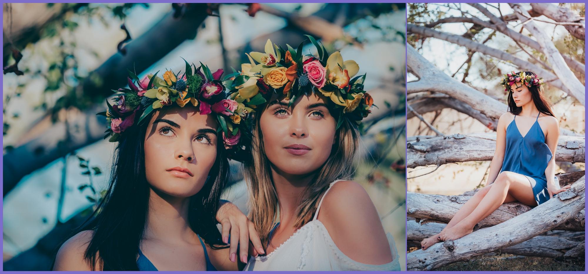 Two models with flower crowns haku - oahu glamour photographer - ketino photography.jpg