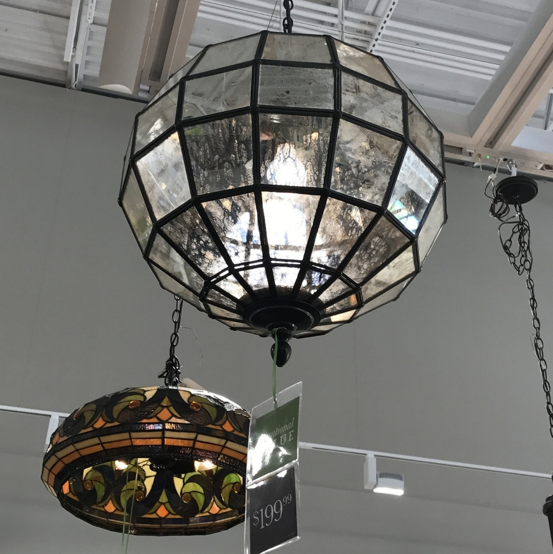 This gorgeous mercury glass pendant is only $199 and is the perfect combination of rustic with a touch of glam to update any space!