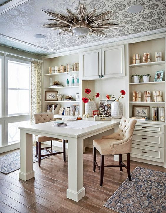 (SOURCE: Traditional Home Office by Denver Interior Designers & Decorators Duet Design Group