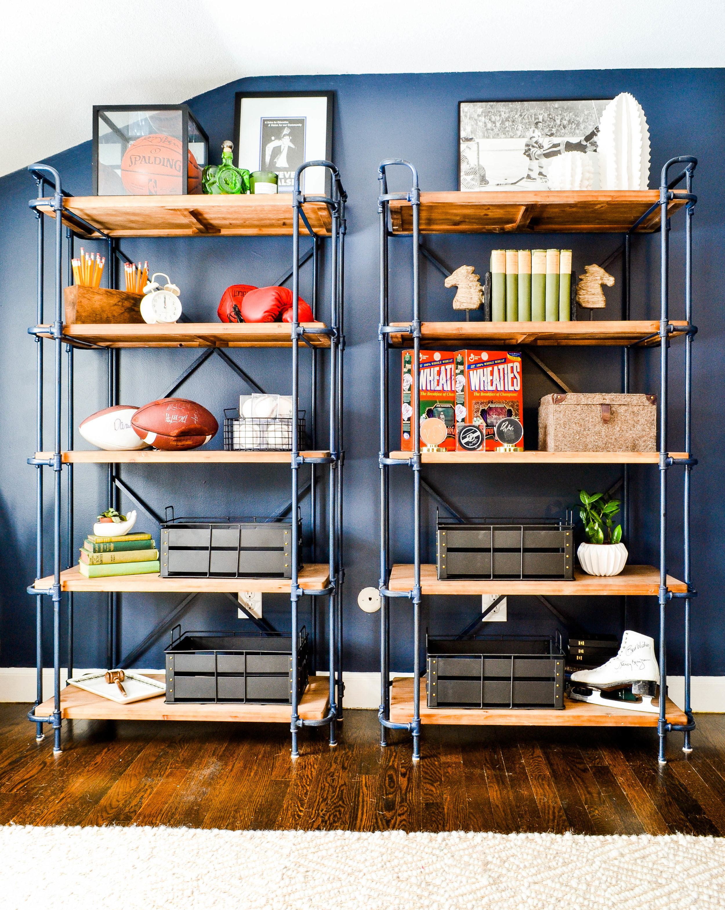 Mayberry Project open shelves styled
