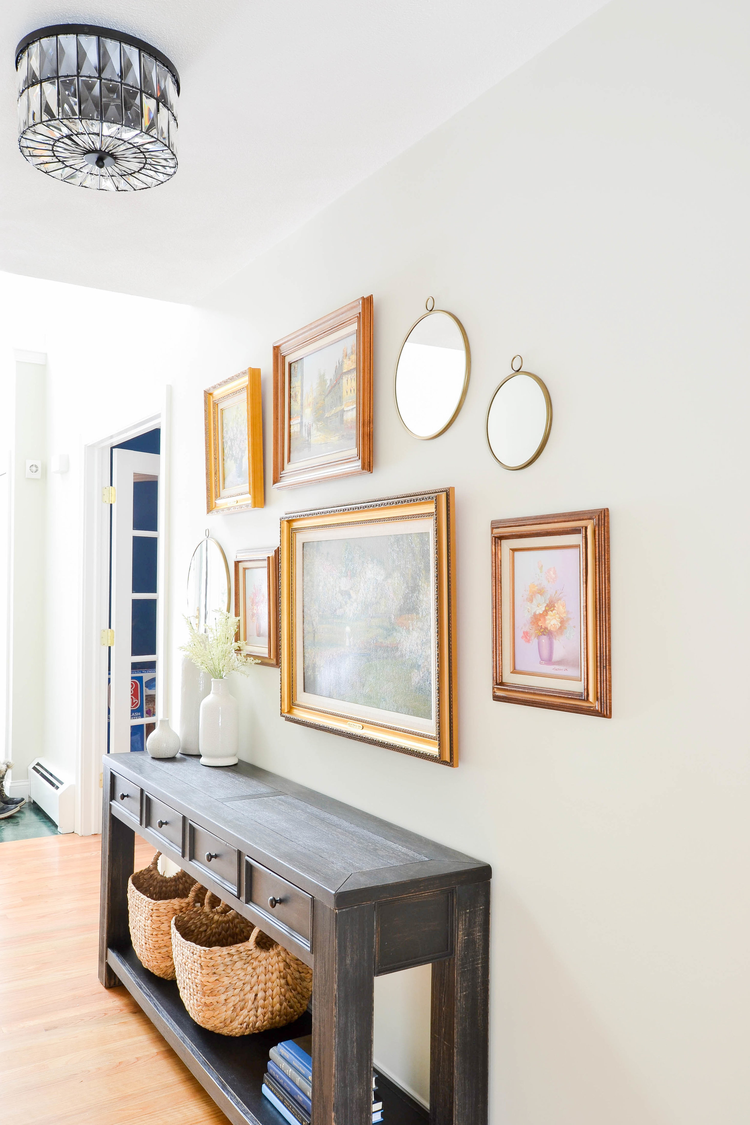 Entryway Transformation - Gallery wall and Console Table