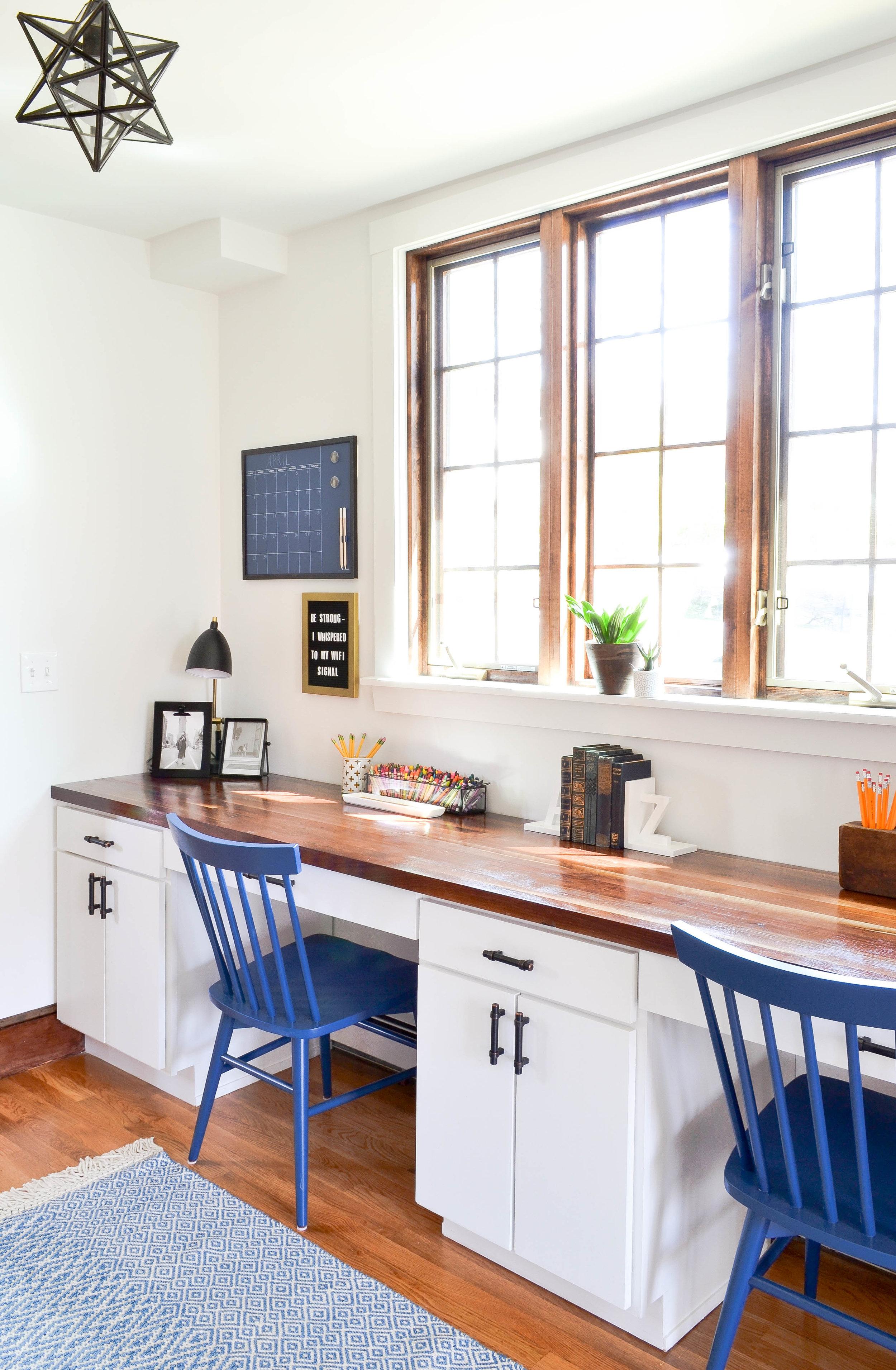 Gray Oak Studio Pilgrim Project Office buit-in desk