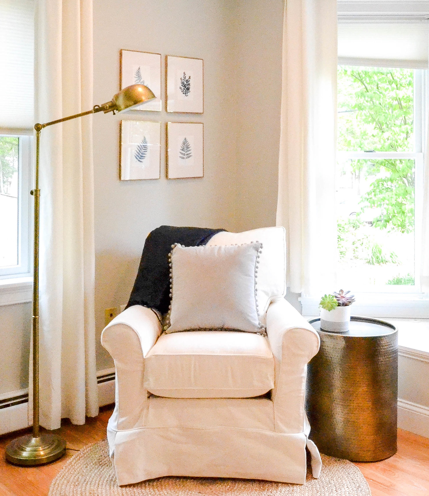Gray Oak Studio Homestead Living Room Project - reading nook