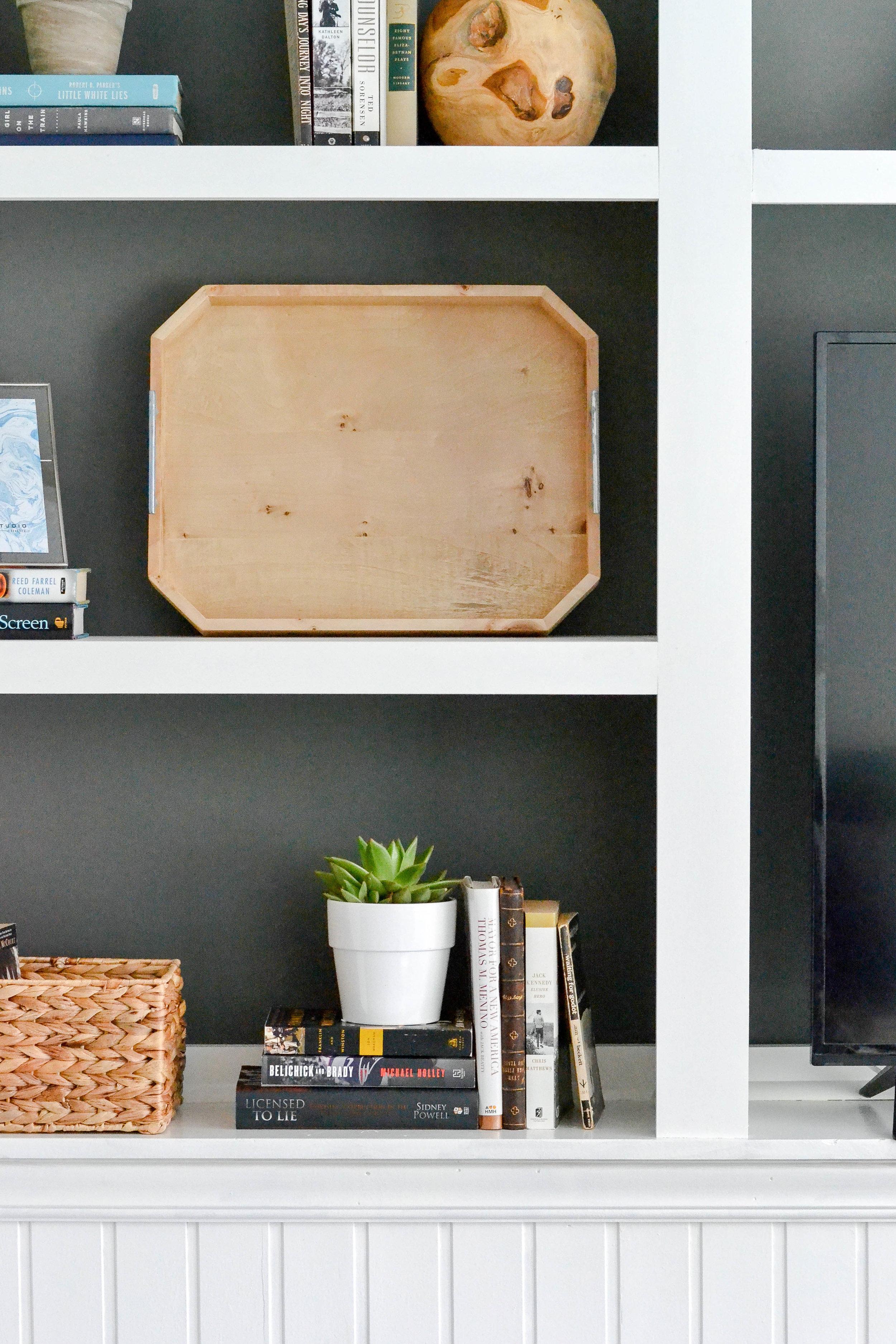 Gray Oak Studio Built-in Media Center