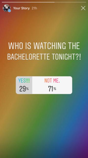 Gray Oak Studio - Instastory Poll on The Bachelorette