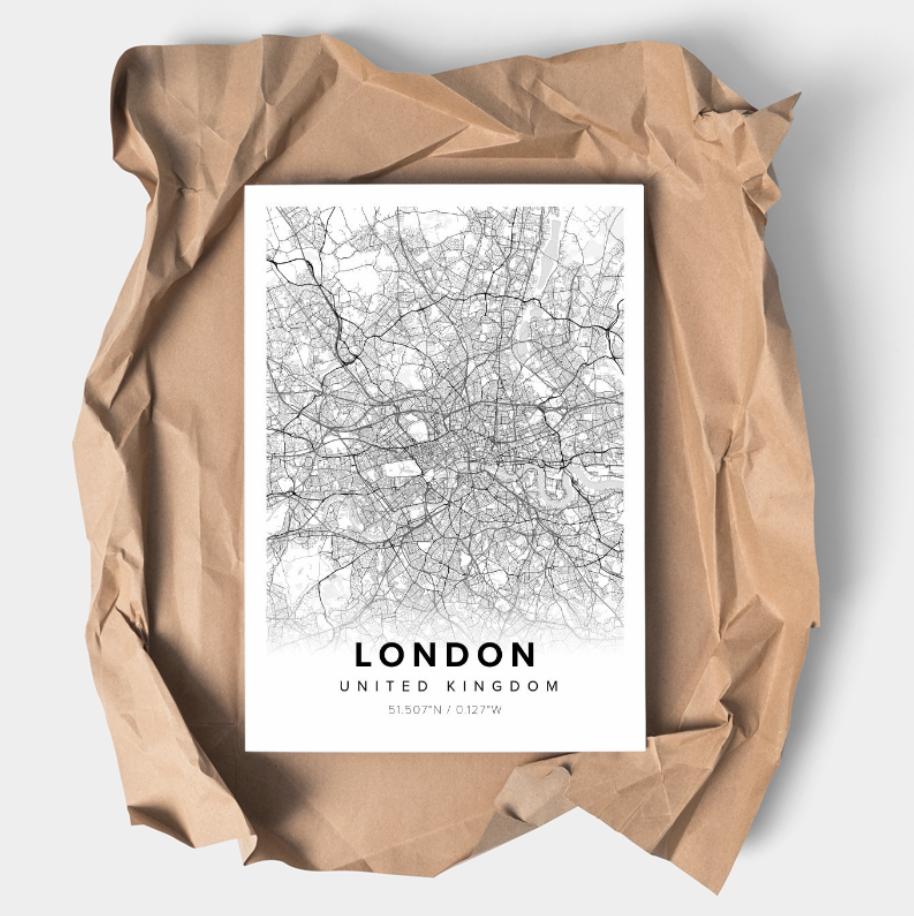 Gray Oak Studio Mapiful London Map