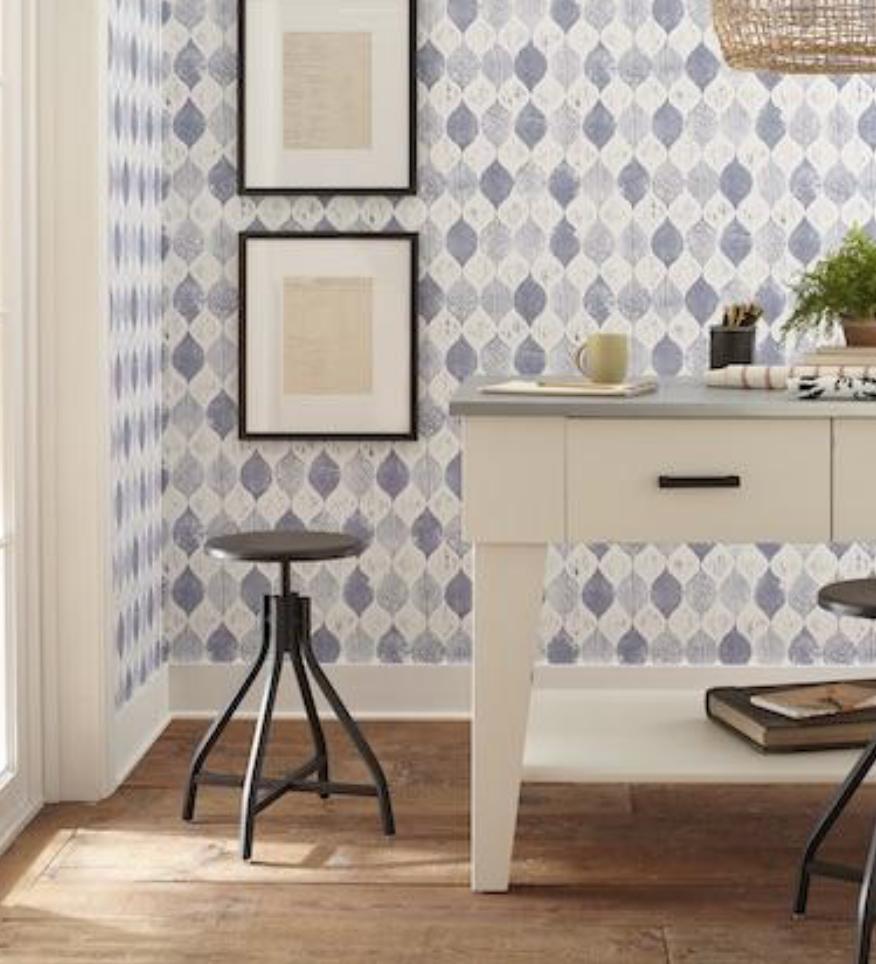 Gray Oak Studio Magnolia Home Wallpaper Woodblock print