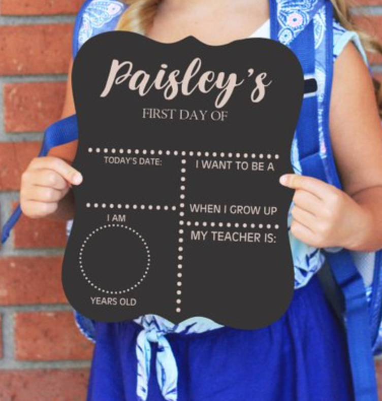 Gray Oak Studio - Wednesday Five - Back to School Chalkboard