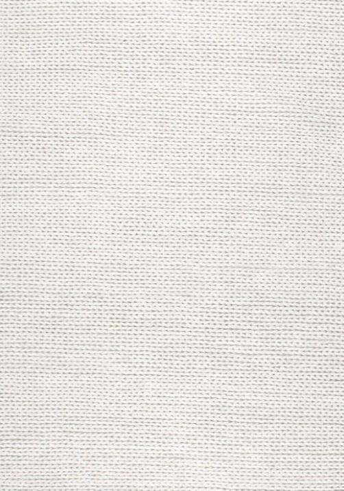 Gray Oak Studio - Woven white chunky wool rug