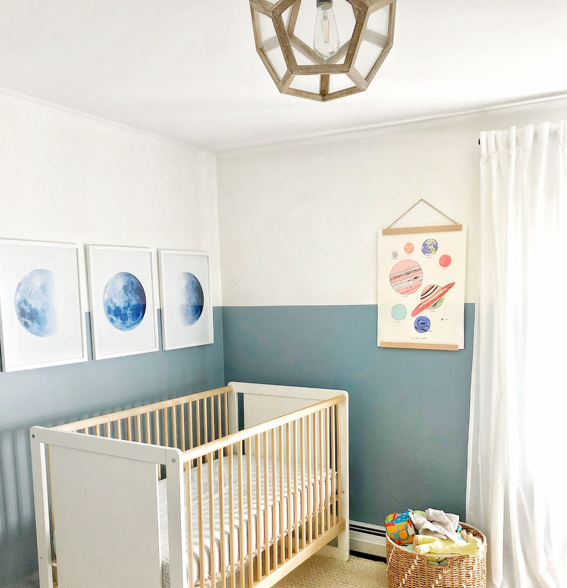 Gray Oak Studio - Baby Boy Outerspace Nursery