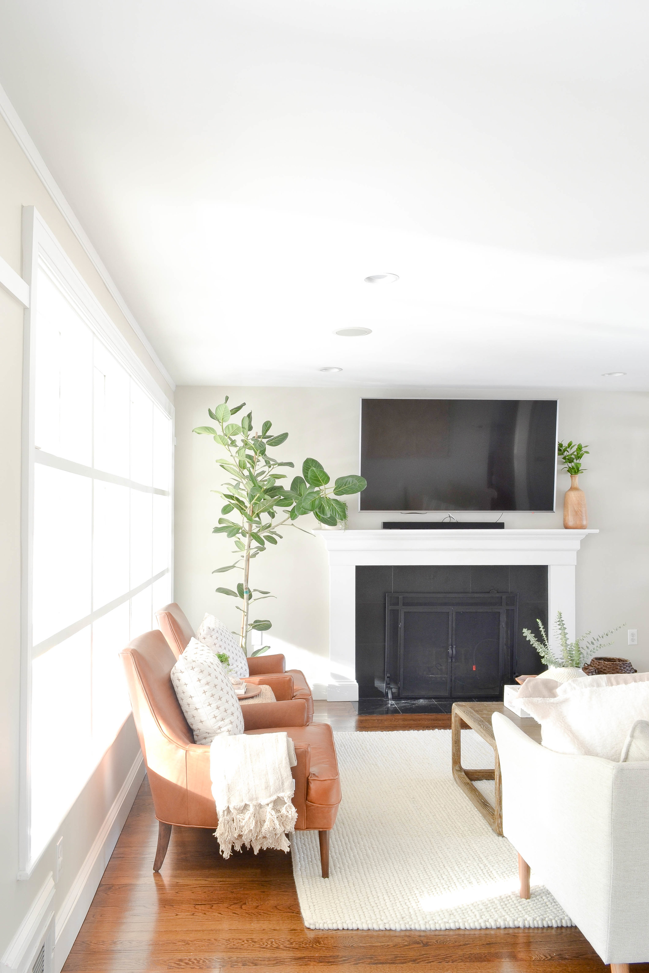 Gray Oak Studio - Lowell Project Living Room - Leather Chairs