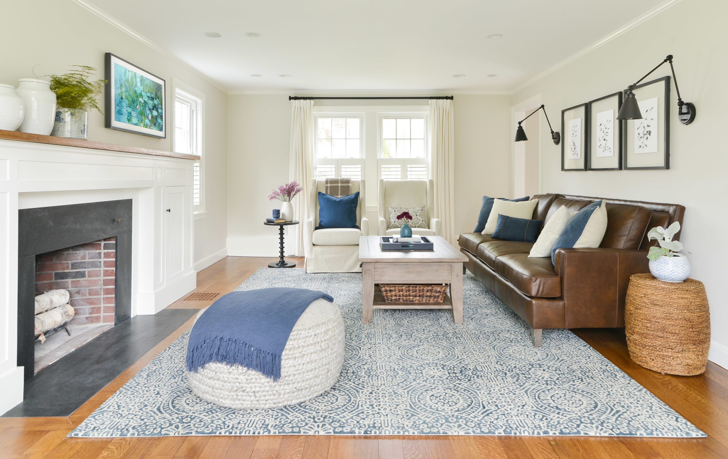 Gray Oak Studio - Lovell Project - Transitional Living Room