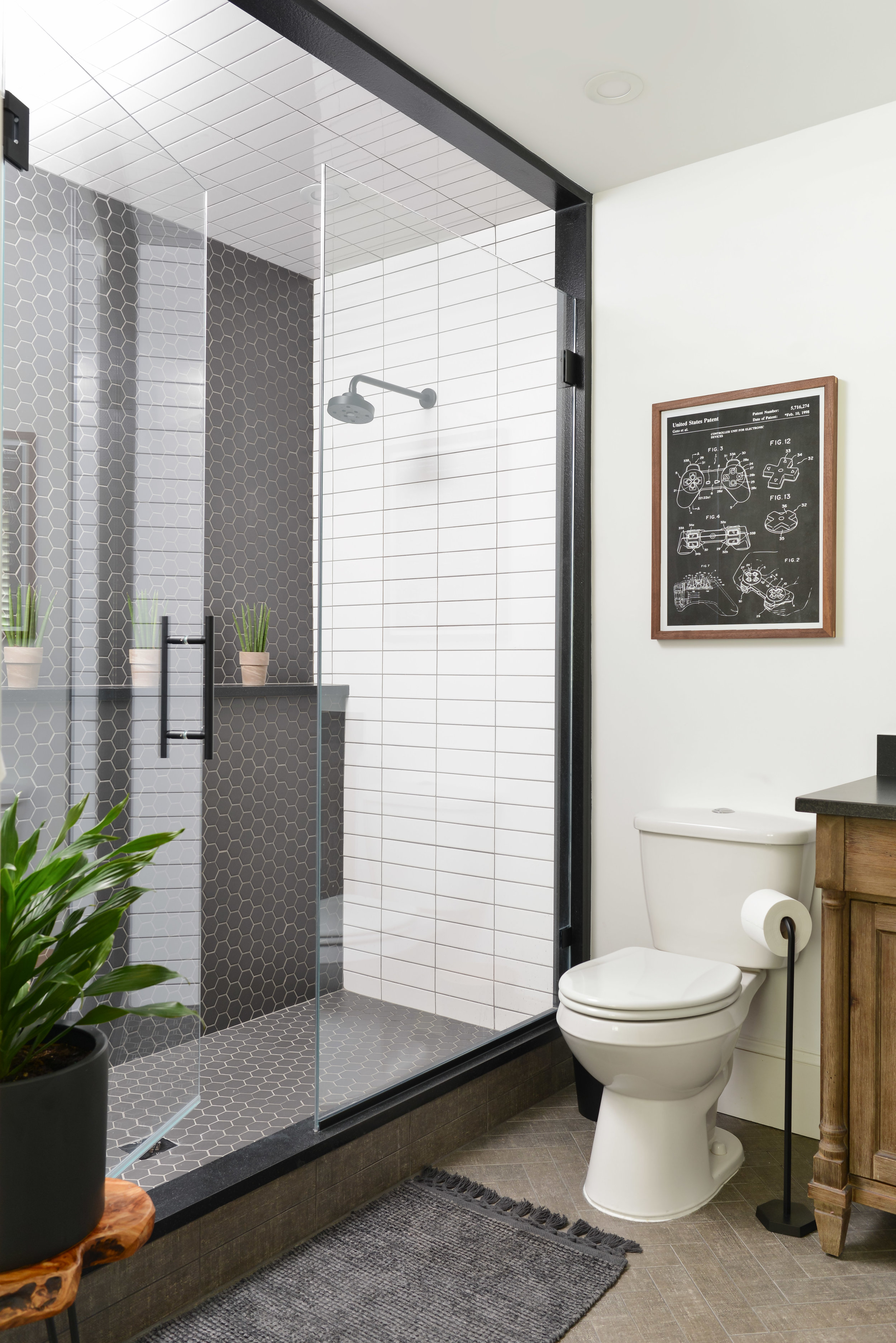 Gray Oak Studio - Modern Bathroom - Chantilly Lace