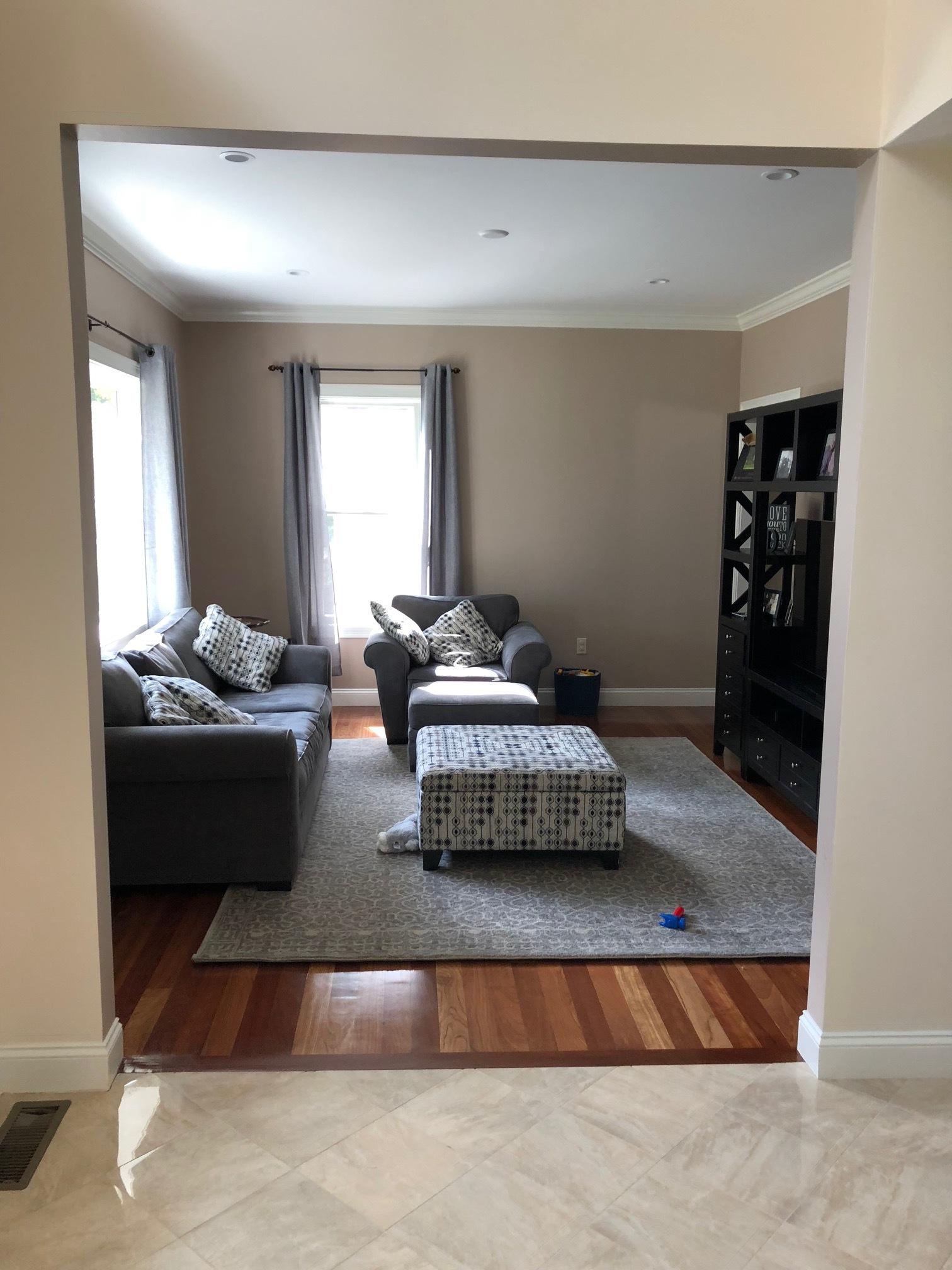 Gray Oak Studio - Family Room Refresh - BEFORE photo