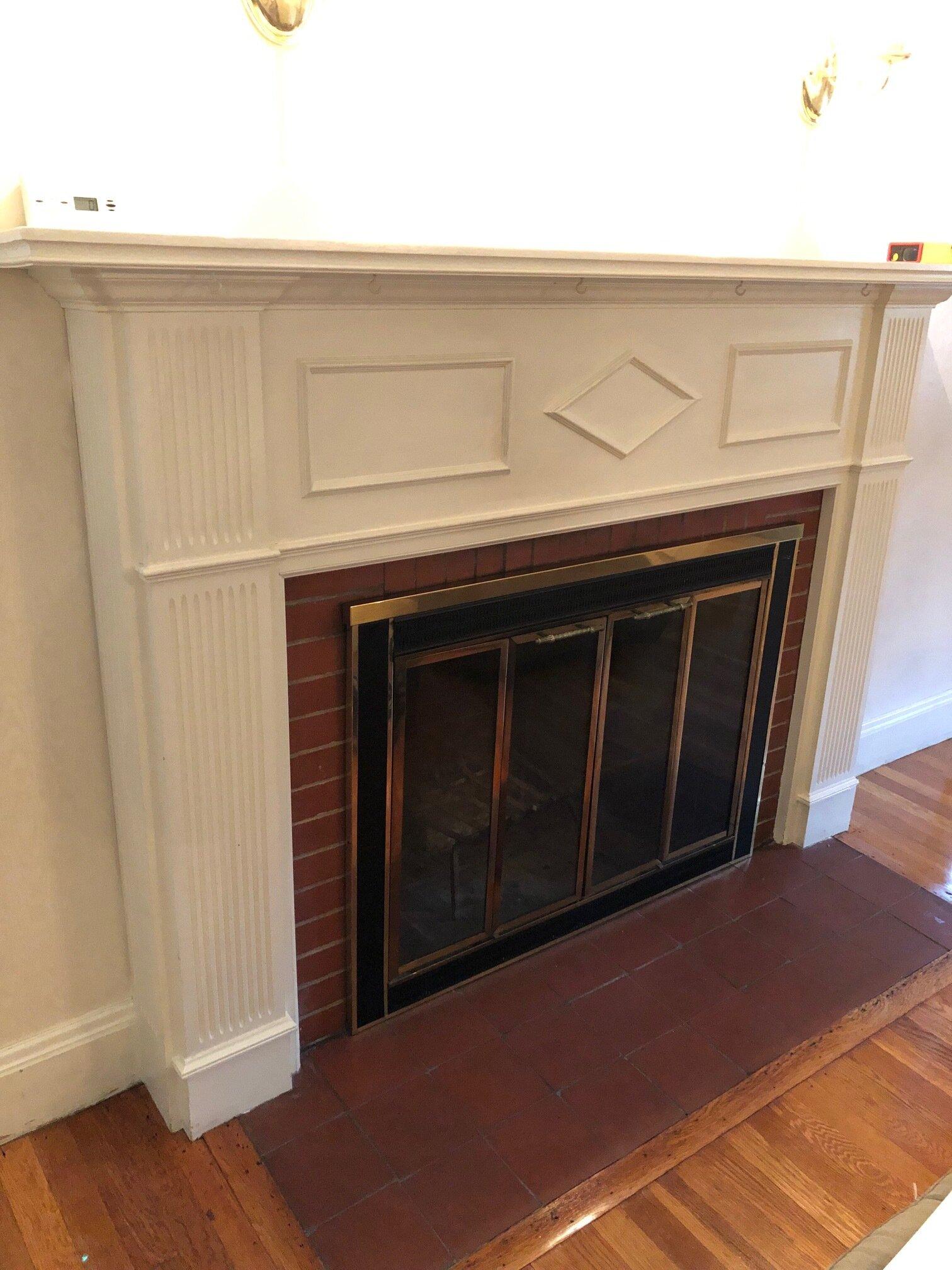 Gray Oak Gives Back - Fireplace BEFORE
