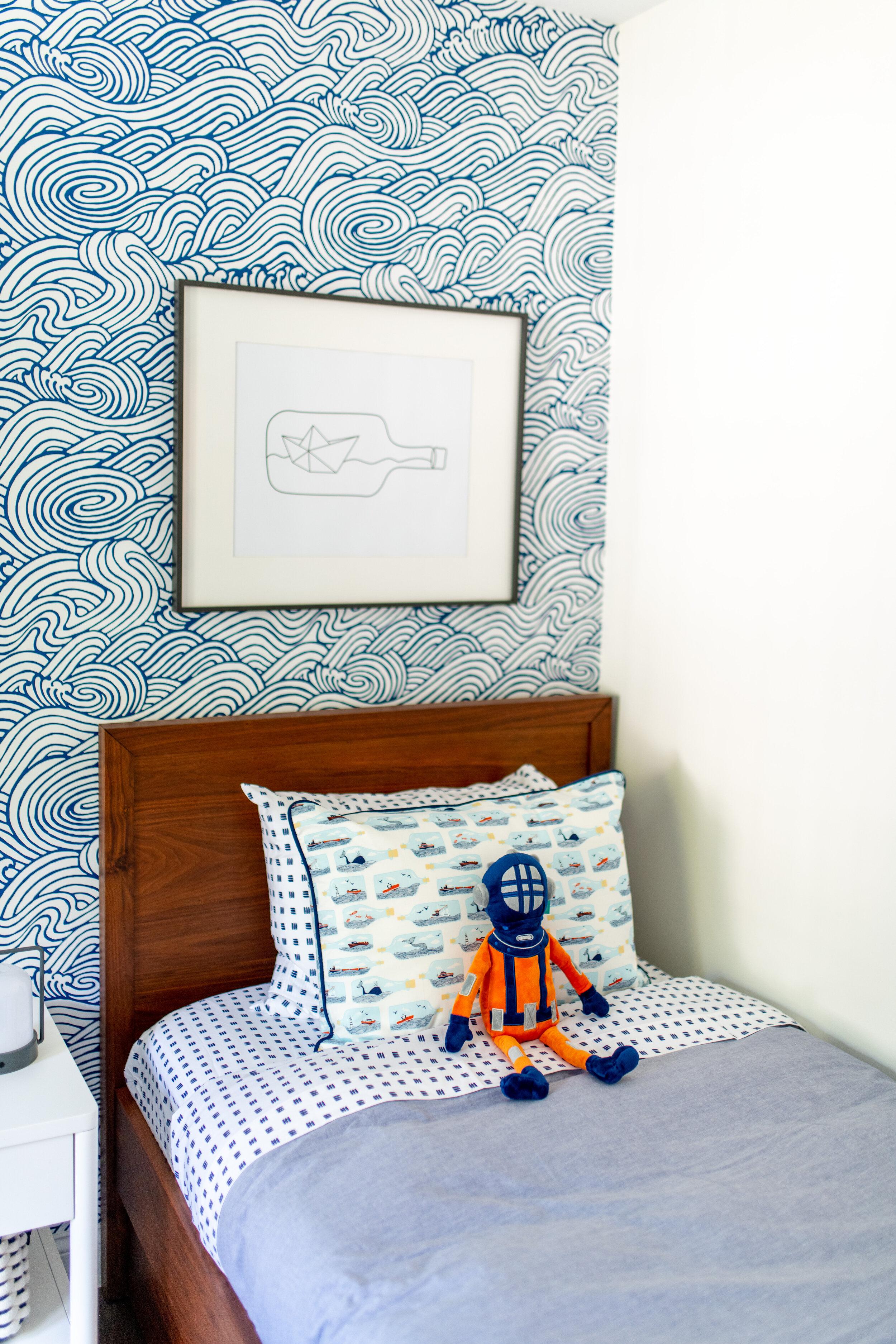 Gray Oak Studio - Prospect Project - Accent Wallpaper Ocean