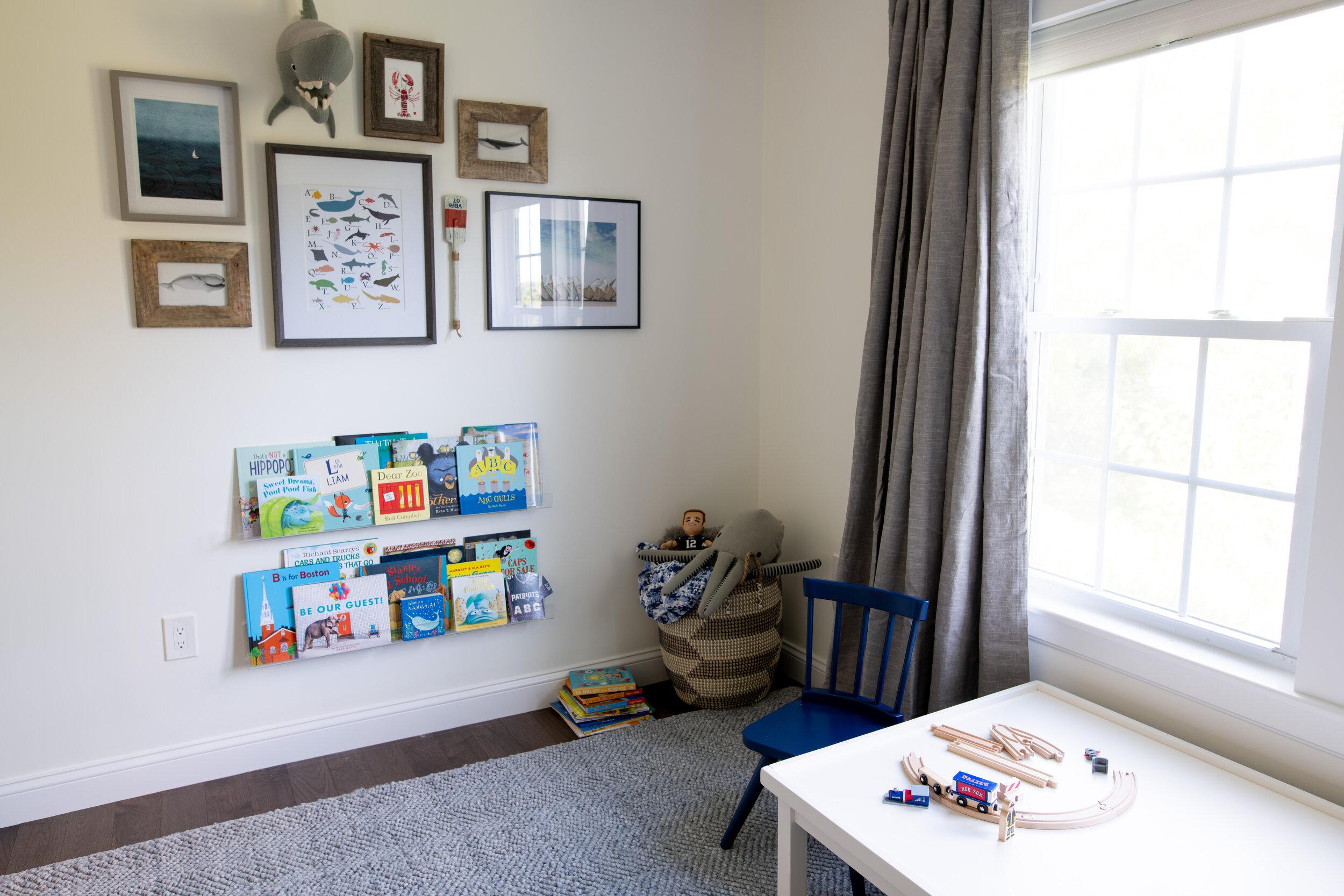 Gray Oak Studio - Little Boy's Ocean Bedroom - Gallery Wall