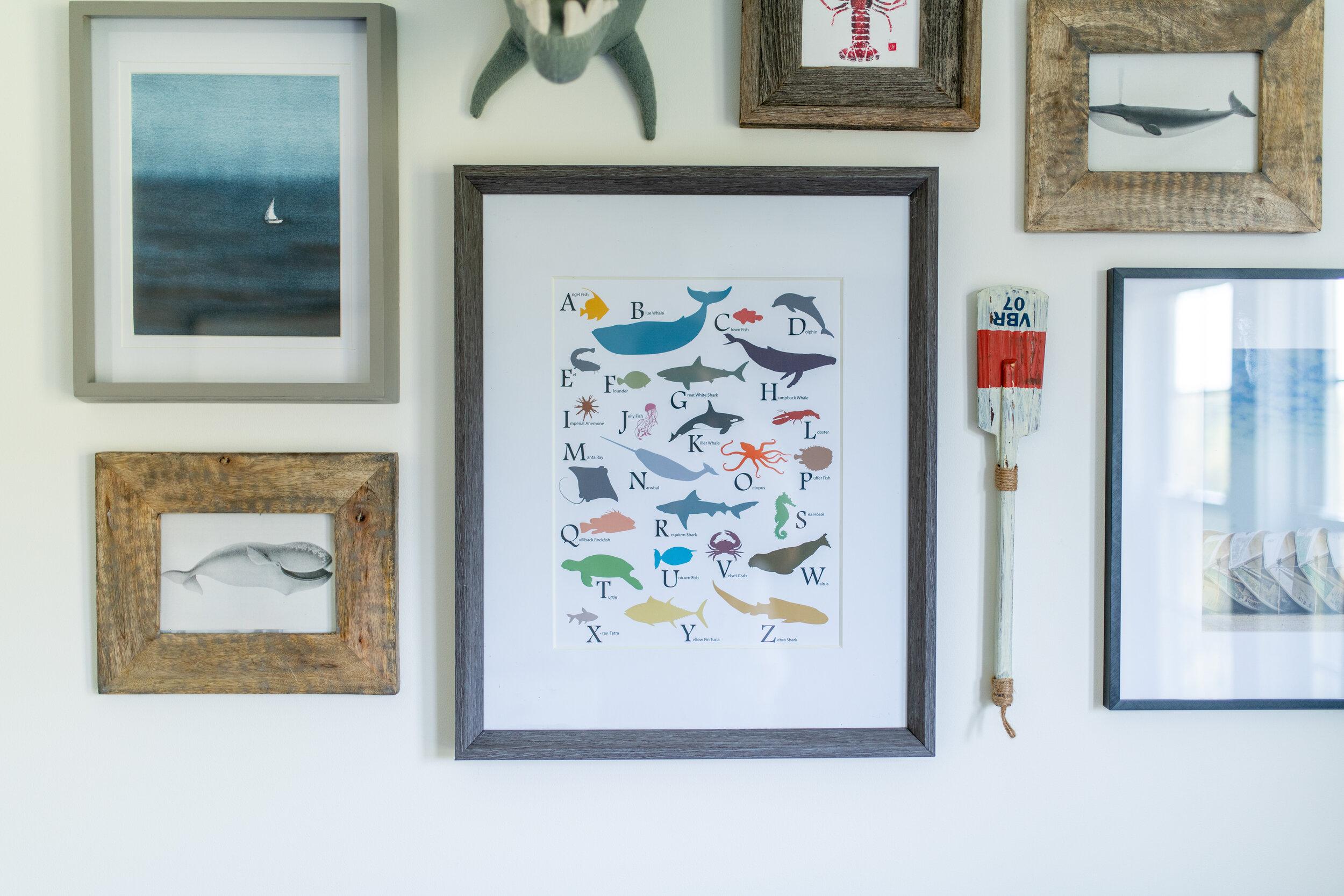 Gray Oak Studio - Boy Bedroom Gallery Wall