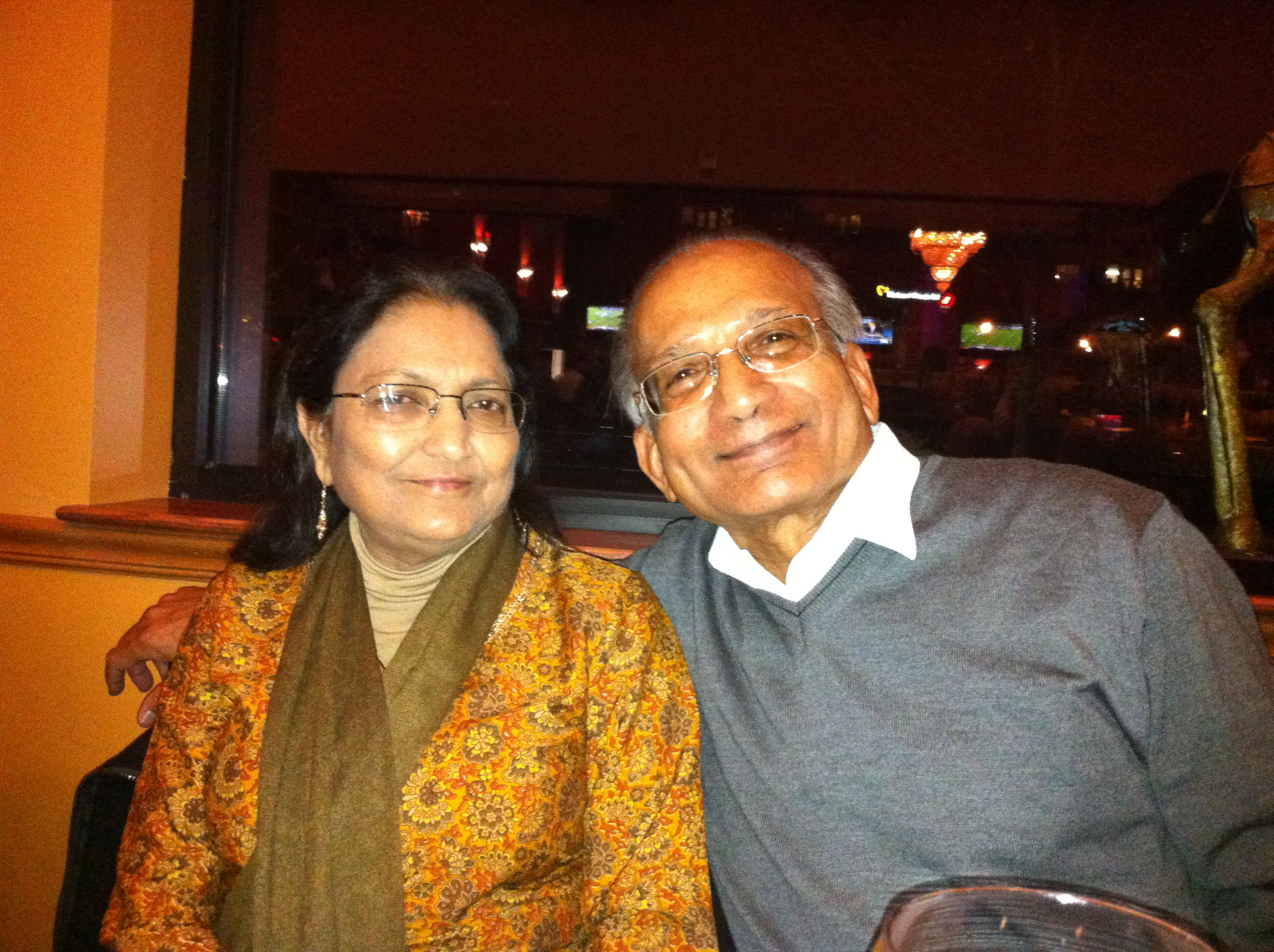 Ram and Neena Gada  (Photo is provided as a courtesy to The $8 Man and is the property of Ram and Neena Gada)